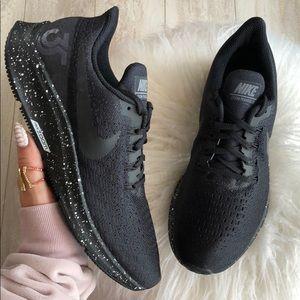 57b7cc3e70e7 Nike Shoes - NWT Nike ID Zoom Pegasus 35 Triple Black